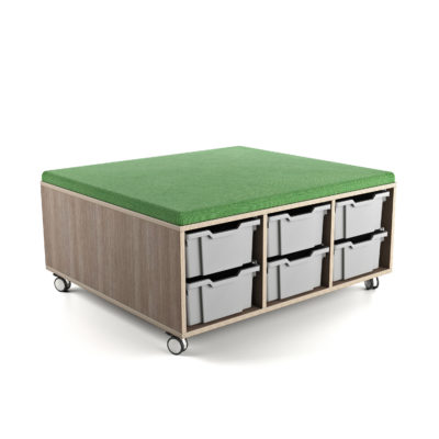 STORE AND DRAW[trade] Upholstered Caddy (12 Tub)